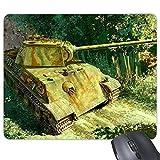 La seconda guerra mondiale serbatoi Jungle American Soldiers pittura a olio rettangolo gomma antiscivolo mouse Game mouse pad Gift