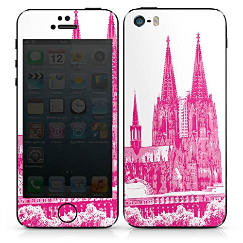 Apple iPhone SE Case Skin Sticker aus Vinyl-Folie Aufkleber Köln Dom Kirche Kölner Dom DesignSkins® glänzend