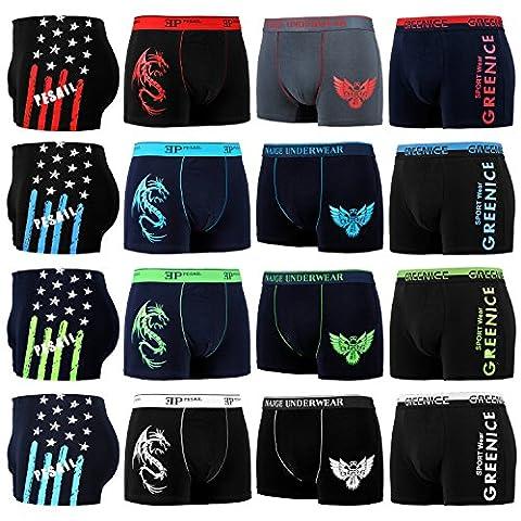 10er Pack L&K Boxershorts Baumwolle Herren Unterwäsche Pants in vielen Musterkombinationen 1112