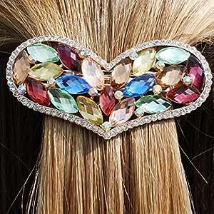 Pincer Les Cheveux Barrette Coeur en Cristal