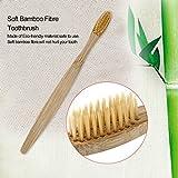 Yellow Environment-friendly Wood Toothbrush Bamboo Toothbrush Soft Bamboo Fibre