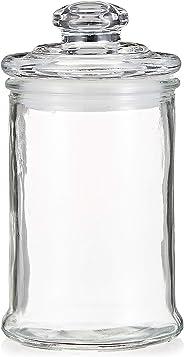 Claro Glass Storage Jar With Airtight Lid GLS0010095, 400 ml