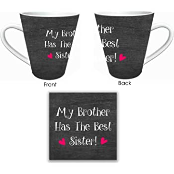 Rakhi Gifts for Sister Combo, My Brother has the Best Sister Mug, Coaster set of 2 by Giftsmate