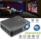 CAIWEI Wireless WiFi Projecteur 4200 Lumen, Projecteur multimédia pour PC portable Wii PS4 XBOX Android iPhone TV Box DVD par HDMI USB VGA, Noir (Manuel en anglais et prise UK)