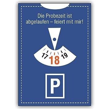 10 Geburtstagskarten (10er Set): Einladung Zum 18. Geburtstag: Die  Probezeit Ist