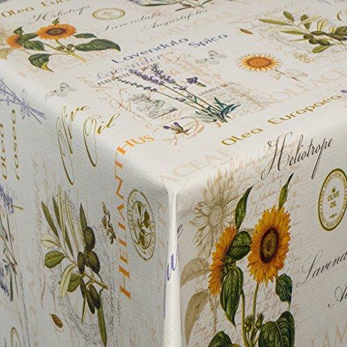 EHT Tischdecke Wachstuch Gartentischdecke rund eckig oval in verschiedenen Größen Meterware Wachstischdecke Olea Design -