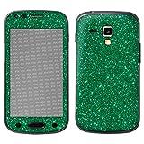 atFolix Samsung Galaxy S Duos 2 Skin FX-Glitter-Green-Mile Designfolie Sticker - Reflektierende Glitzerfolie
