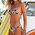 Bikini Damen,Binggong Frauen Brasilianische Bikini Set Bademode Halter Weste Tops Badeanzug Strand Badeanzug Bikini Bottom Micro Bikini Mode Bikini Beach