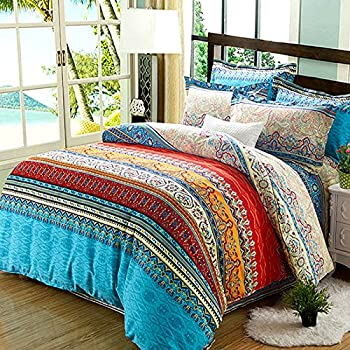 unimall moroccan bohemian 100 cotton quilted single size duvet cover set ethnic exotic style 3. Black Bedroom Furniture Sets. Home Design Ideas