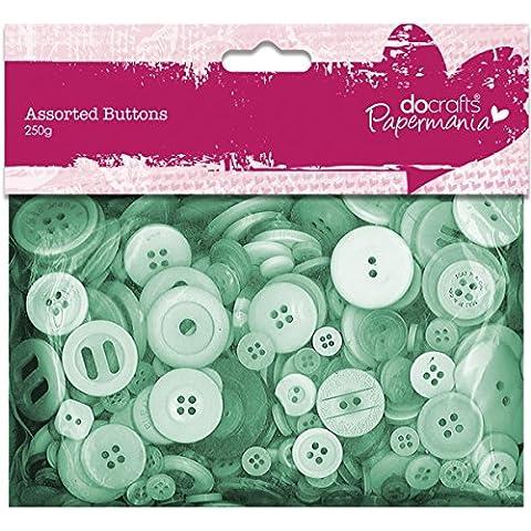 Juego de botones variados (250g), color verde
