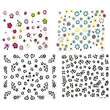 Drawihi 50 hojas Surtido Pegatina Decoracion para las Uñas Decal DIY uñas herramienta de decoración arte adhesivos uñas Pegatinas
