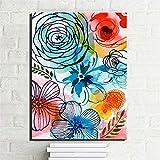 Danjiao Abstrakte Aquarell Blumen Leinwanddrucke Auf Leinwand Große Bunte Moderne Wohnkultur Blumen Bilder Für Kinderzimmer Wanddekor Wohnzimmer 40x60cm
