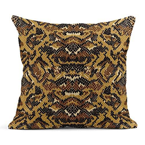 Dekokissen Brown Pattern Abstract Schlangenhaut Tier Python Legging Natur Reptil Leinen Kissen Home Dekorative Kissen -