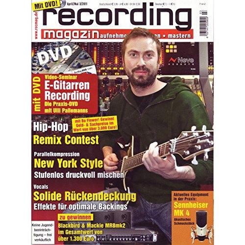 Recording Magazin 3 2011 mit DVD - E-Gitarren Recording Videoseminar Teil 1 - Parallelkompression Stufenlos druckvoll mischen - aufnehmen - mischen - mastern