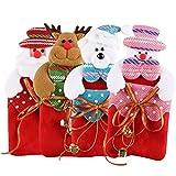 Sacchetti regalo di Natale, Ifoyo 4pezzi Cartoon sacchetti regalo natalizi da appendere piccolo albero di Natale Decorazioni natalizie Treat Candy Bags 4 Pack