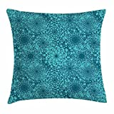 WENEOO LA Teal and Turquoise Geometric Throw Pillow Covers 18 x 18 Home Decor Living Room Pillow Covers Decorative Cushion Cover Case Housewarming Gifts