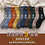 XUESAXZAZ Damen Socken Herbst und Winter Socken Socken weiblichen Tube Socks College Wind Wärme Verdickung Kaninchen Strümpfe