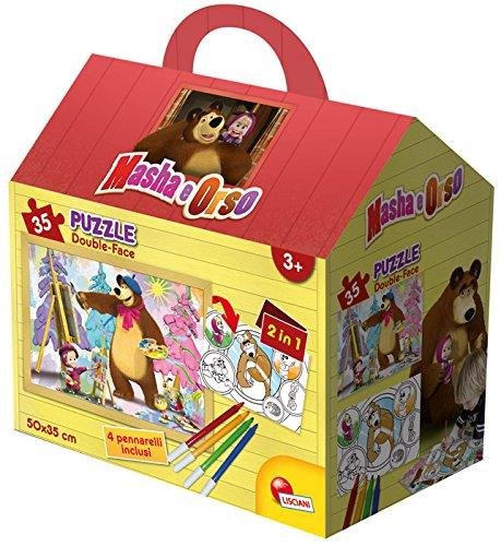 Lisciani 51694 - masha e orso puzzle casetta, 35 pezzi