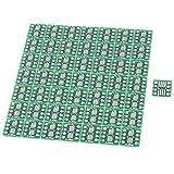 Tarjeta de adaptador - SODIAL(R) 50 piezas SOP8 SSOP8 TSSOP8 SMD al adaptador DIP8 0,65 / 1,27 mm Junta de PCB
