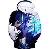 Haosheng Unisex Uomo 3D Stampato Anime Felpa con Cappuccio Fumetti Seriali Maniche Lunghe Scuola di Eroi Cosplay Hoodie