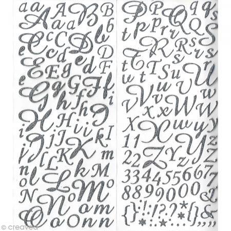 Artemio Artémio Alphabet Glitter-Sticker Silber 177 Doppelseitige, Selbstklebende Buchstaben, Glas, One Size -