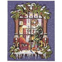 Natale foto finestra contato punto croce Kit-11