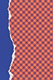 Orange and Blue Journal: (6 x 9 Small)(Dot Grid) Blank School Colors Notebook College High School Student Organizer Planner Alumni Booster Club ... Diary Unique Plaid Cover Torn Paper Binding