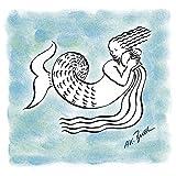 Artland Qualitätsbilder I Wandtattoo Wandsticker Wandaufkleber 30 x 30 cm Fantasy Mythologie Sternzeichen Malerei Blau A8TW Serie Sternzeichen Wassermann