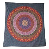 Tagesdecke Mandala Blume bordeaux Baumwolle indische Decke Wandbehang Überwurf