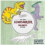 Mein großes Dinosaurier-Malbuch ab 5 Jahre: 40 spannende Dino-Motive zum Ausmalen (Ausmalbuch Kinder)