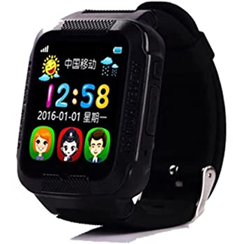 PINCHU Reloj Inteligente para Niños K3 Reloj Impermeable para Niños Reloj GPS para Seguridad En Tiempo