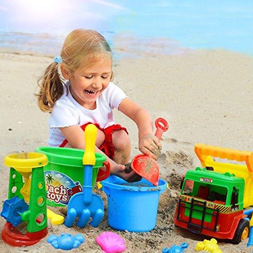 mmer Strand Spielwaren Plastikform Sanduhr Werkzeug Wannen Satz Spiel Sand Spielzeug für Jungen und Mädchen (Vorschule Sommer Handwerk)