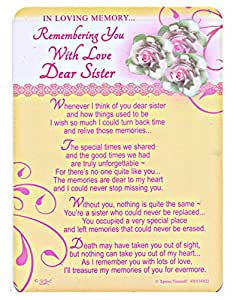 In Loving Memory Remembering You With Love Dear Sister