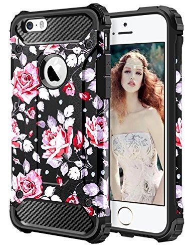 iPhone 6S Hülle, Coolden Premium Outdoor Case Doppelte Schutz Soft Flex Silikon TPU + Schlanke PC Bumper Cover Militärstandard Stossfest Schutzhülle für iPhone 6s Handyhülle iPhone 6/6s Case (Schwarz)