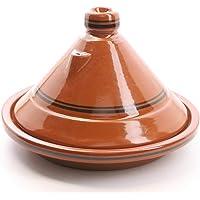 """Tajine """"Terra Miel"""" 30 cm Marocain pour Cuisiner Berber Tontopf fabriqué à la Main pour 4 à 5 Personnes Marrakesch…"""