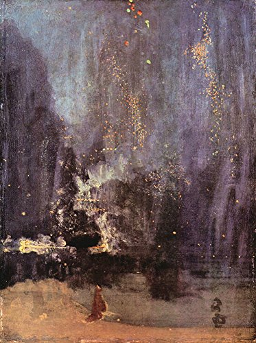 Das Museum Outlet - NOCTURNE in schwarz und gold, The Falling Rocket von James Abbot McNeill Whistler, gespannte Leinwand Galerie verpackt. 29,7 x 41,9 cm - Schwarz Gold Nocturne Und In