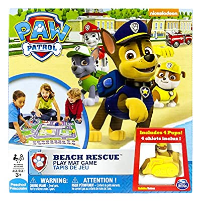 Patrulla canina 6026808 - Alfombra infantil con circuito de Playa al Rescate de Spin Master