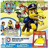 Patrulla canina 6026808 - Alfombra infantil con circuito de Playa al Rescate