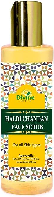 Divine India Haldi Chandan Face Scrub, 200 ml