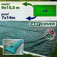 Telo di copertura invernale per piscina 7 x 14 mt con tubolari perimetrali