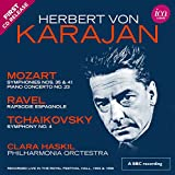 Clara Haskil: Herbert von Karajan: Mozart, Ravel, Tchaikovsky (Royal Festival Hall 1955 & 1956) [2 CDs] (Audio CD)