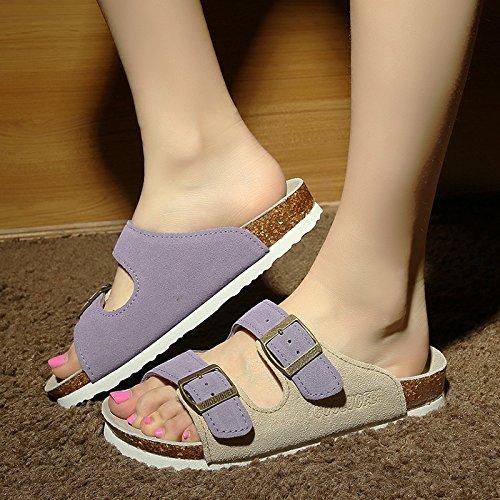 Fankou uomini pantofole estate pantofole tide grandi numeri di anti-skid coppie cool ciabatte femmina 39, d.