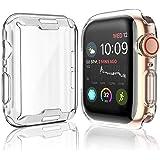 [عبوتين] غطاء حماية لجهاز Apple Watch Series 5 / Series 4 واقي شاشة 44 مم، iWatch جراب واقي شامل من مادة TPU عالية الوضوح رفي