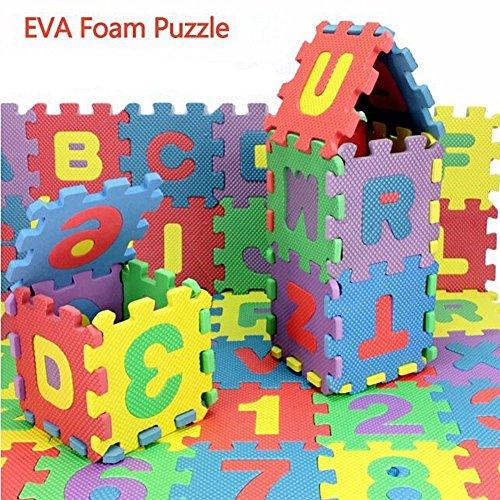 Simwood™ Giocare Mat Puzzle Tappeto Gioco Schiuma Bambini Tappeto Puzzle Lettere dell'alfabeto e numeri da