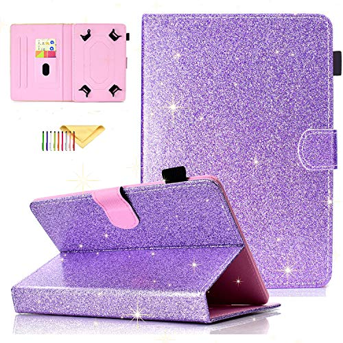 Uliking Universal Bling Glitzer Hülle für Samsung Galaxy Tablet, Apple iPad, Amazon Kindle, Google Nexus und weitere 16,5-10,5 Zoll Tablet - Case Zoll-rca Tablet 8