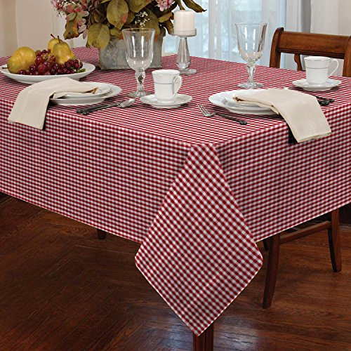 Gingham Check Square Tablecloth ...