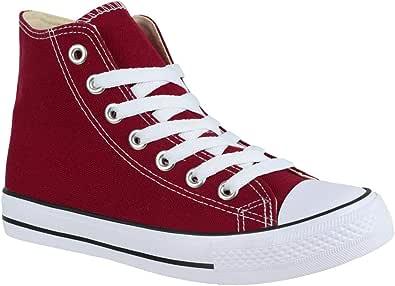 Baskets unisexe Elara - Chaussures de sport pour femmes - Chaussures en textile - Baskets montantes