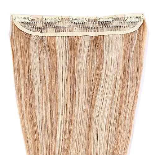 18 Inch Remy Clip Hair Extensions Ash Blonde Bleach Blonde