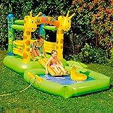 Hüpfburg+Pool Giraffe mit Sprühfunktion