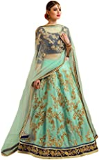 Caffoy Cloth Company Women's Lehenga Choli (CL13_Green_Free Size)